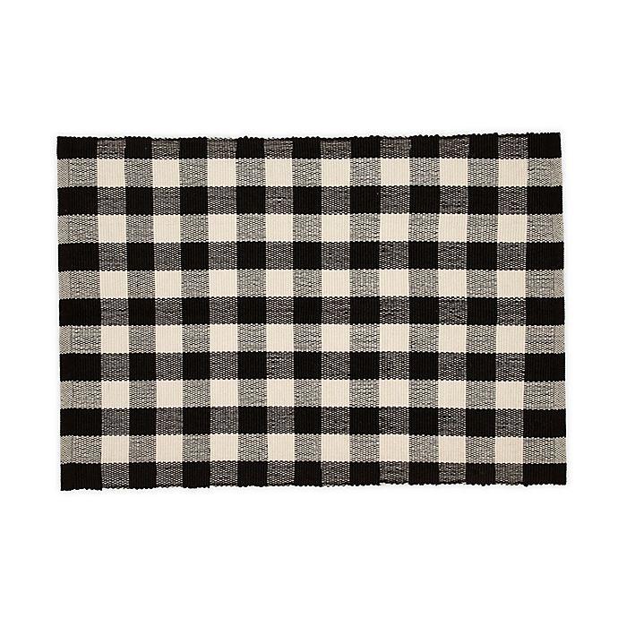 Alternate image 1 for Mohawk Home® Buffalo Plaid Door Mat in Black/White