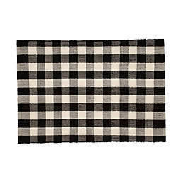 Mohawk Home® Buffalo Plaid Door Mat in Black/White
