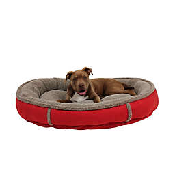 Carolina Pet Memory Foam Round Cup Large Pet Bed in Red