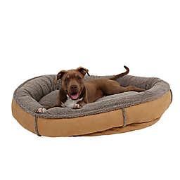 Carolina Pet Memory Foam Round Cup Large Pet Bed in Saddle