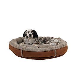 Carolina Pet Memory Foam Round Cup Large Pet Bed in Chocolate