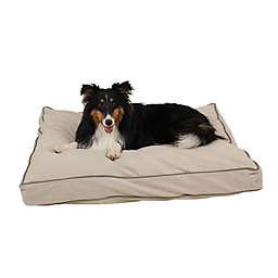 Carolina Pet Jamison Classic Canvas Memory Foam Small Pet Bed in Khaki