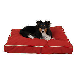 Carolina Pet Jamison Classic Canvas Orthopedic Small Pet Bed in Red Barn
