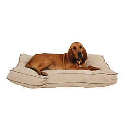 Carolina Pet Jamison Classic Canvas Orthopedic Large Pet Bed in Khaki