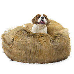 Carolina Pet Ombre Faux Fur Puff Ball Pet Bed