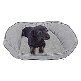 Precious Tails 24-Inch Curved Orthopedic Memory Foam Herringbone Sofa Pet Bed