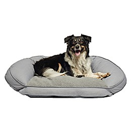 Precious Tails 40-Inch Curved Orthopedic Memory Foam Herringbone Sofa Pet Bed