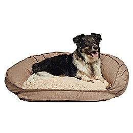 Precious Tails 40-Inch Curved Orthopedic Memory Foam Herringbone Sofa Pet Bed