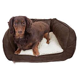Precious Tails Curved Orthopedic Memory Foam Pet Sofa Bed