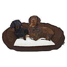 Precious Tails Curved Orthopedic Memory Foam Pet Medium Sofa Bed in Brown