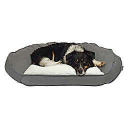 Precious Tails Curved Orthopedic Memory Foam Large Pet Sofa Bed in Grey
