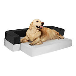 Precious Tails 42-Inch 2-in-1 Convertible Bolstered Pet Mat