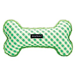 Harry Barker® Gingham Large Bone Dog Toy in Red