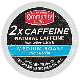 Community Coffee® 2X Caffeine Medium Roast Coffee Pods for Singe Serve Coffee Makers 24-Count