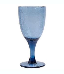 Copa de vidrio Bee & Willow™ Home Milbrook con diseño burbujas color azul