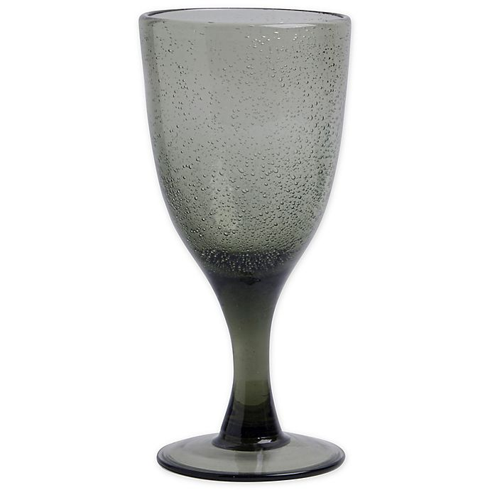 Alternate image 1 for Bee & Willow™ Home Milbrook Bubble Goblet in Smoke