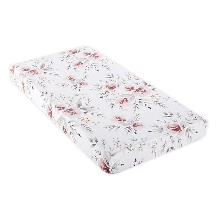 Alternate image 1 for Levtex Baby® Adeline Changing Pad Cover in Pink/White
