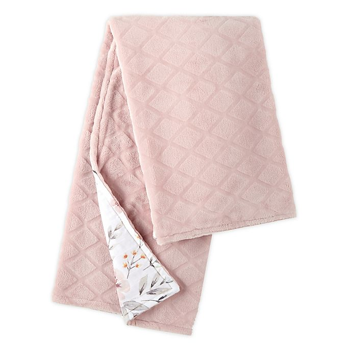 Alternate image 1 for Levtex Baby® Adeline Stroller Blanket in Pink