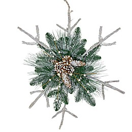 Northlight® 24-Inch Frosted Twig Snowflake Christmas Ornament in Green