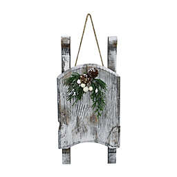 Northlight 11-Inch Weathered Wood Sleigh Christmas Decoration in Grey