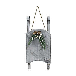 Northlight 15-Inch Weathered Wood Sleigh Christmas Decoration in Grey