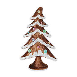 Northlight Gingerbread Kisses 17.25-Inch Snow Covered Gingerbread Christmas Tree in Brown