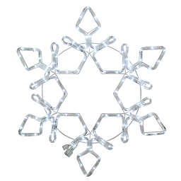 Northlight Snowflake Silhouette LED Rope Light Christmas Decoration in White
