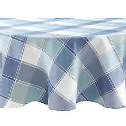 Colordrift Woven Plaid 70-Inch Round Tablecloth