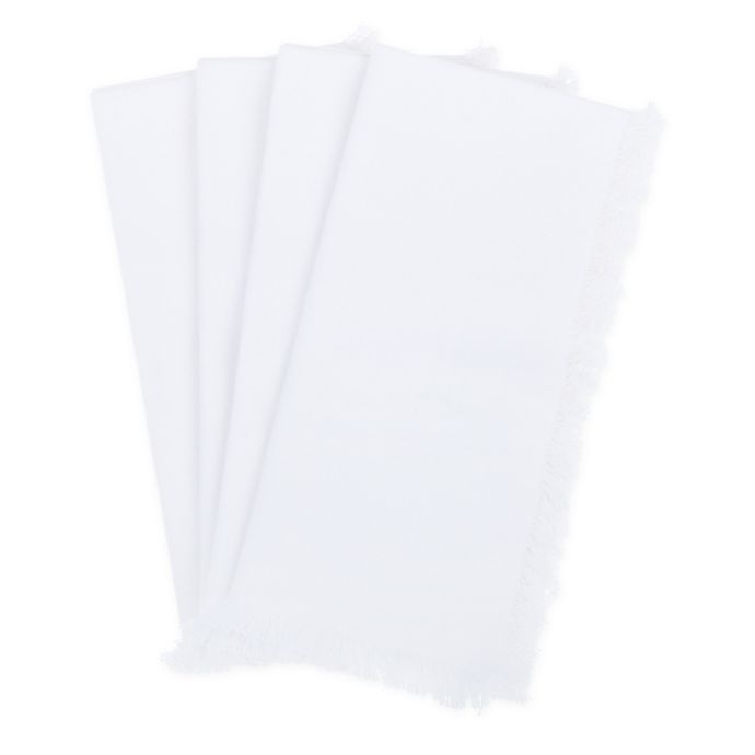 Alternate image 1 for Bee & Willow™ Home Wycomb Napkins in White (Set of 4)