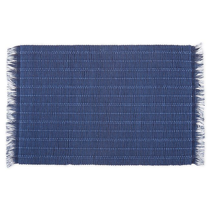 Alternate image 1 for Bee & Willow™ Home Wiekham Weave Placemat in Navy