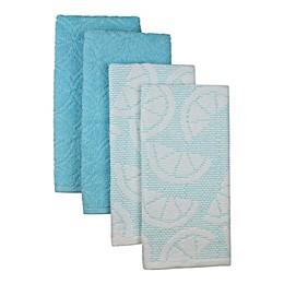 Freshee 4-Piece Sculpted Kitchen Towel Set