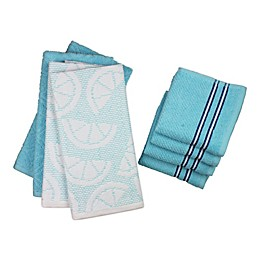 Freshee 8-Piece Solid and Fruit Kitchen Towel Set