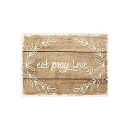 Eat, Pray, Love Placemats in Brown (Set of 4)
