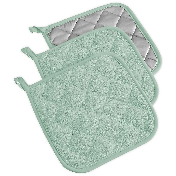 Alternate image 1 for Design Imports Terrycloth Pot Holders (Set of 3)
