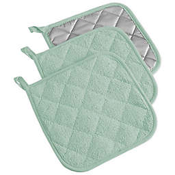 Design Imports Terrycloth Pot Holders (Set of 3)