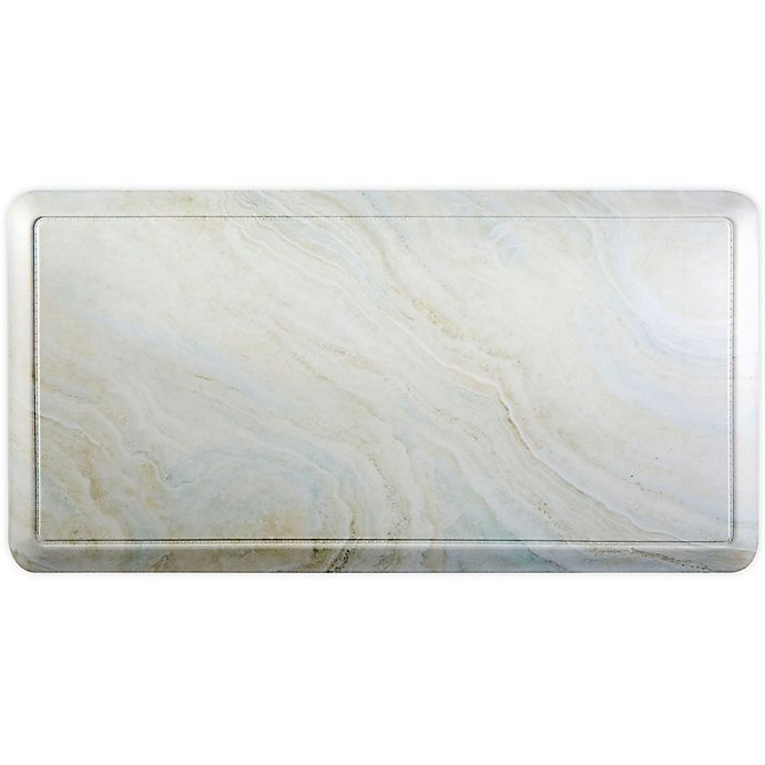 Cat Cora Embossed Gentle Step Marble 24 X 36 Anti Fatigue Kitchen Mat In Ivory Beige Bed Bath Beyond