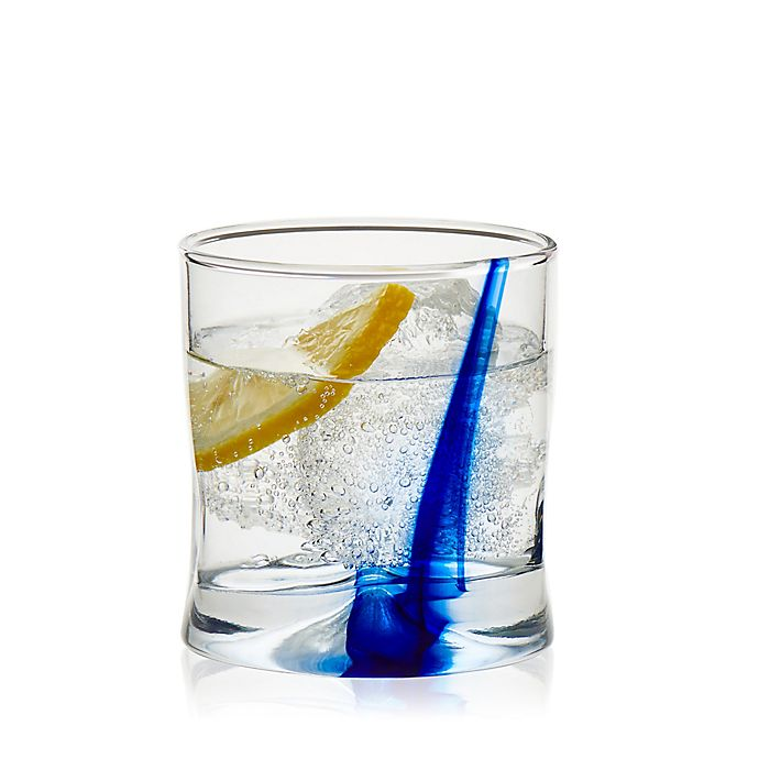 Alternate image 1 for Libbey® Glass Blue Impressions Double Old Fashioned Glasses (Set of 8)