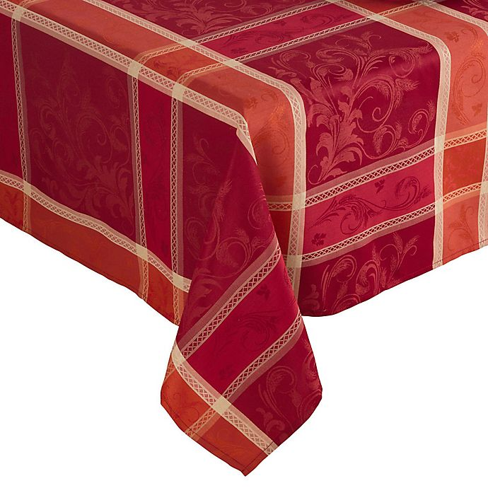Alternate image 1 for Saro Lifestyle Pumpion Tablecloth in Red