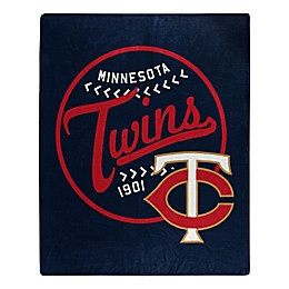 MLB Minnesota Twins Jersey Raschel Throw Blanket