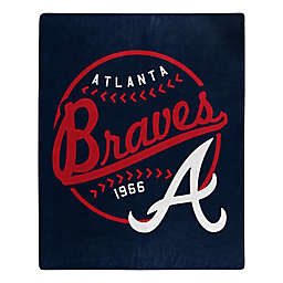 MLB Atlanta Braves Jersey Raschel Throw Blanket