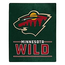 NHL Minnesota Wild Super-Plush Raschel Throw Blanket
