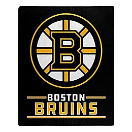 NHL Boston Bruins Super-Plush Raschel Throw Blanket