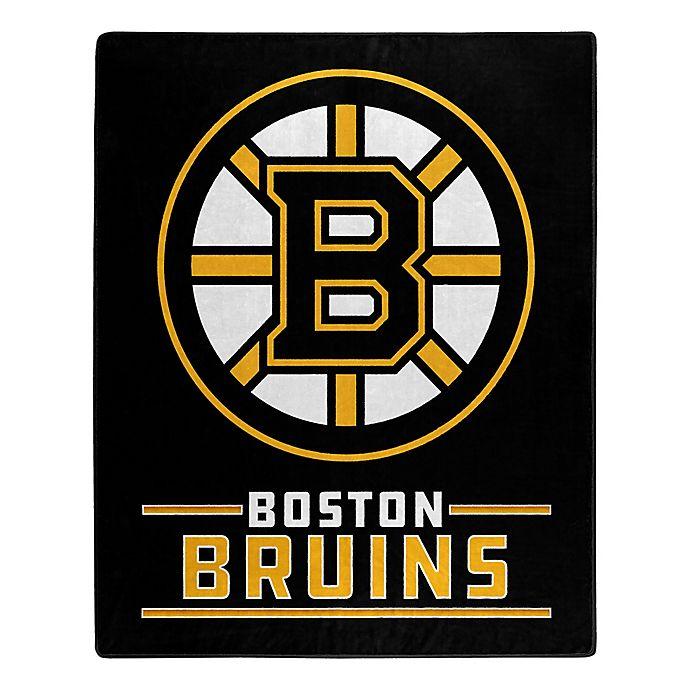 Nhl Boston Bruins Super Plush Raschel Throw Blanket Bed Bath Beyond