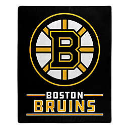 NHL Boston Bruins Super-Plush Raschel Throw Blanket