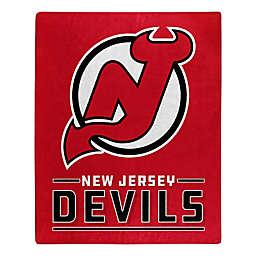 NHL New Jersey Devils Super-Plush Raschel Throw Blanket