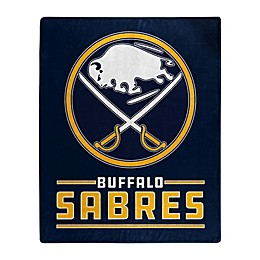 NHL Buffalo Sabres Super-Plush Raschel Throw Blanket