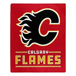 NHL Calgary Flames Super-Plush Raschel Throw Blanket