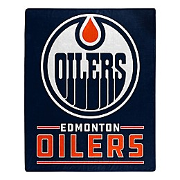 NHL Edmonton Oilers Super-Plush Raschel Throw Blanket