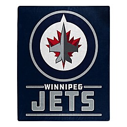 NHL Winnipeg Jets Super-Plush Raschel Throw Blanket