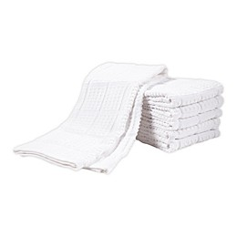 SALT™ All-Purpose Waffle Weave Kitchen Towels in White (Set of 6)